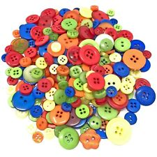 Primary 100 Gram Mix Acrylic & Resin Buttons For Cardmaking Embellishments