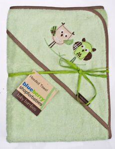 BlueberryShop Bamboo WARM EXTRA LARGE HUGE HOODED Printed BATH POOL TOWEL Baby