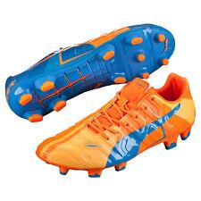 New  200 PUMA EvoPower 1.2 FG Mens Soccer Cleats - Blue Orange - Size 9.5 fb0934ed22