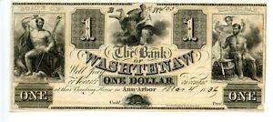 1836   $1    Ann Arbor,  Michigan.  Bank of Washtenaw