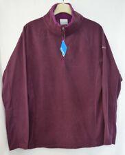 New Columbia Womens Glacial IV Fleece Long Sleeve Lrg Purple With Fuchsia Trim