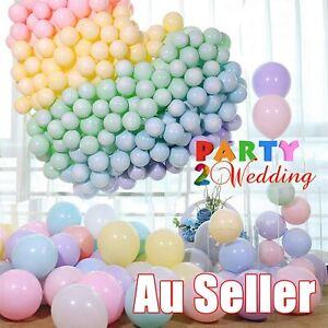 "100x Macaron 10"" Large Latex Balloons Party Wedding Birthday Decor Helium AU"