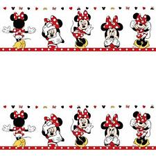 GALERIE OFFICIEL DISNEY MINNIE MOUSE ENFANTS CRÈCHE BORDURE PAPIER PEINT
