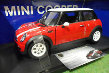 BMW MINI COOPER rouge/toit blanc 1/18 AUTOart 74828 voiture miniature collection