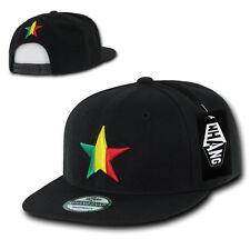 California Republic SNAPBACK Hat vtg 3D CALI STAR Flat Bill Cap bear BLACK RASTA