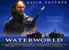 Original UK Mini Quad Poster Waterworld Kevin Costner