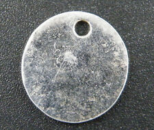 50pcs Tibetan Silver Smooth Coin Pendants 17x1.2mm 8220