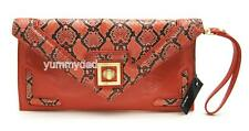 MIMCO ROBOTICA ENVELOPE CLUTCH IN DARK CORAL BNWT RRP$179