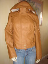 NWT GUESS PRESLEY CAMEL BOMBER HOODED JACKET/COAT 100% AUTHENTIC-XL