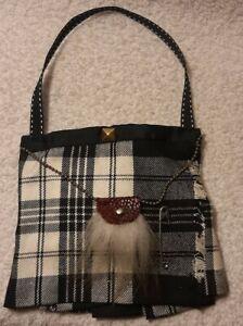 Handmade Scottish tartan kilt hanging wardrobe lavender clothes freshener