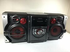 Panasonic SA-AK330 5 CD Bookshelf Stereo System Dual Cassette AM FM with Remote