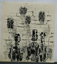 Dessin Original Encre Claude Schürr (1921-2014) Le Rendez-Vous 1960 SHU18