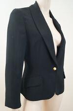 SPORTMAX Black & Gold Tone Diamante Button Fastened Evening Blazer Jacket UK12