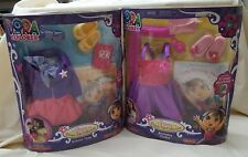 FISHER PRICE DORA THE EXPLORER DRESS UP COLLECTION SCHOOL TIME & Birthday Fiesta