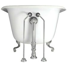 Elizabethan Classics 1/2 in. x 24 in. Brass Double Offset Bath Supplies Chrome