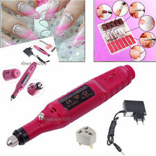 EU PLUG Professional Nail Art Drill Polish File Manicure Pedicure Electric RS