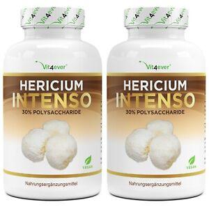 Hericium Erinaceus Pilz - 240 Kapseln - 650mg Extrakt 30% Polysaccharide - Vegan