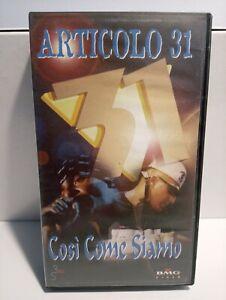 VHS ARTICOLO 31 COSÌ COME SIAMO OTTIME CONDIZIONI