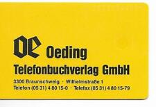RARE / CARTE TELEPHONIQUE - OEDING OE GERMANY / PHONECARD CALL CARD TELEFONKARTE