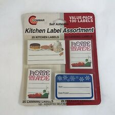 Vintage Conimar Kitchen Canning Freezing Self Adhesive 100 Labels New Old Stock