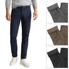 Pantalone Uomo Imbottito Termico Invernale Elasticizzato Jeans Comodo VEQUE