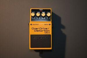 boss OS-2  Overdrive Distortion Effektgerät pedal