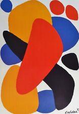 """Alexander Calder """" Boomerang Tel Aviv """" 1977 Platte Signiert Offset Lithographie"""