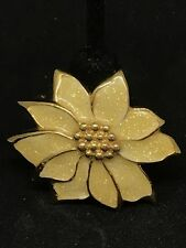 Avon Poinsettia Glitter Enamel Goltone Convertible Brooch Pendant Retro Vintage