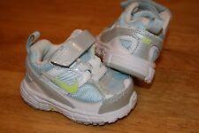 """Nike 395742-400 """"DART 8"""" (TD) Toddler/Baby Shoes Size 2C Blue/White/Silver NIB"""