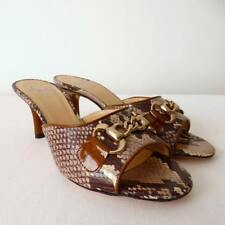 AMALFI by RANGONI NEW  rrp $350.00 Leather Open Toe Mules Size 7 M Made in Italy