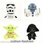 Lot 4 pcs Soft Plush Doll Toy New Star Wars R2D2 Yoda Darth Vader Stormtrooper