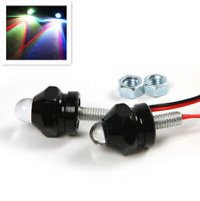 2X Motorcycle Turn Signal Indicator License LED Colorful Bulb Light Black Shell