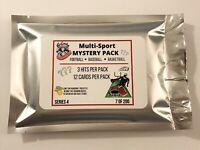 SERIES 4 MULTI-SPORT MYSTERY PACK! BASEBALL/FOOTBALL/BASKETBALL 3 HITS, 10 CARDS