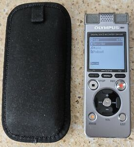 Silver Olympus DM-650 Digital Voice Recorder Dictaphone - used
