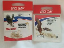 Aberdeen LOT of TWELVE Packs #121H-8 Eagle Claw Snelled Hooks Size 8