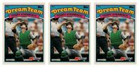 (3) 1989 Topps K-Mart Dream Team Baseball #19 Terry Steinbach Lot Athletics