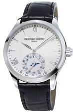 Frederique Constant Horological Smart Watch FC-285S5B6 Black Leather Band Men's