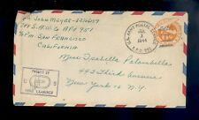U.S. Army APO 951 BELLOWS FIELD, HAWAII? Censored 1944