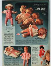 1972 PAPER AD Doll Ideal Lazy Dazy Furga Cipi Cipa Baby Sister Angel Little Luv