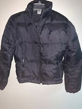 ICEBERG Puffer Jacket Black Down Embroidered Winter Warm VTG Made in Italy Large