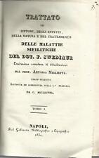 LECCE CARMIANO MIGLIETTA TRATTATO SU MALATTIE SIFILITICHE 1830 VOLUMI QUATTRO