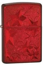 Zippo 28339 iced stars candy apple red RARE & DISCONTINUED Lighter