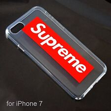 Supreme Transparent Hard Cover Soft Silicone Case for iPhone 7