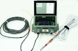Kurz 435DC-3-NI-HT Air Flow Meter Anemometer 0-2500 SFPM w/ probe - Tested