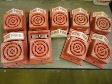 SIMPLEX # 4090-91 Fire Alarm Speaker / Strobe Unit Red Plastic - Pre Owned