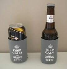 Keep Calm & Drink Beer Bottle/Can Cooler koozie BUY 2 GET 1 FREE!