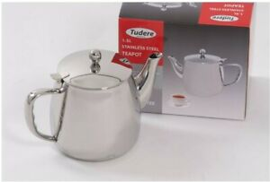 Tudere Stainless Steel 1.5 Litre Teapot - 25 Year Guarantee