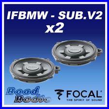 """Focal IFBMW-SUB V.2 8"""" BMW 1, 3 Serires X1 Custom Fit  Underseat Car Sub (PAIR)"""