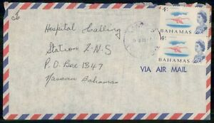 Mayfairstamps BAHAMAS COMMERCIAL 1990s COVER AIR MAIL VERTICAL PAIR wwk92859
