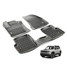 2015-18 Jeep Renegade Floor Mat Kit Black Front & Rear Rugged Ridge 12987.40